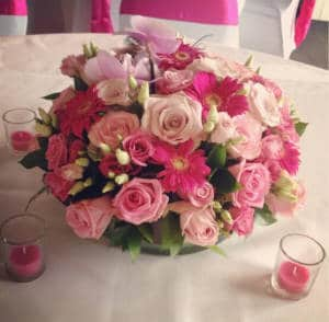 Centerpiece Roze