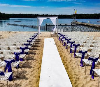 Beach bruiloft ceremonie