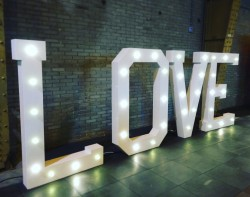 LOVE light up letters
