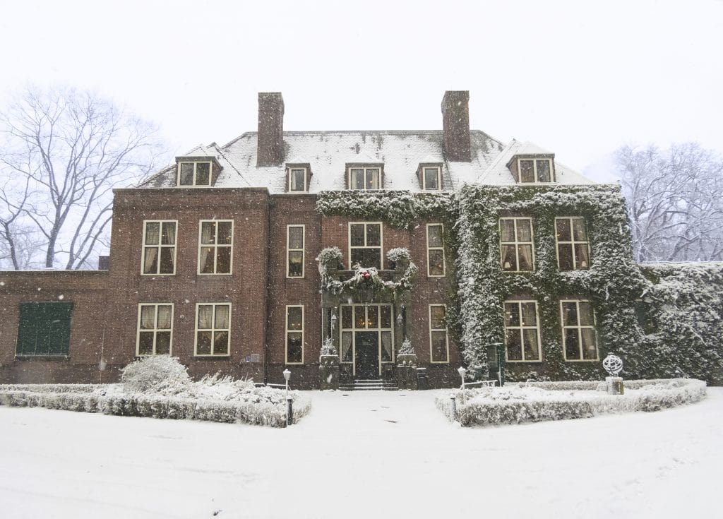 winter wedding landgoed huize bergen
