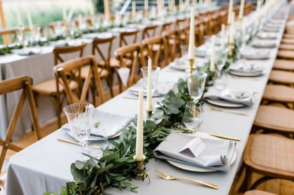 rustic chic wedding styling diner